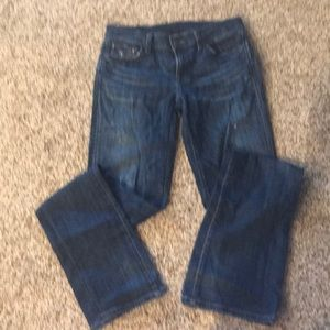 Citizens of Humanity distressed blue jeans